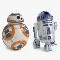 droids star wars 3d max
