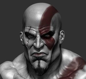 3d kratos ztl stl model