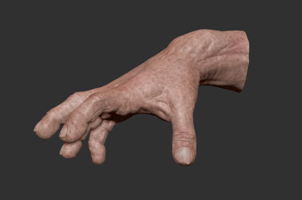 hand ztl zbrush 3d model