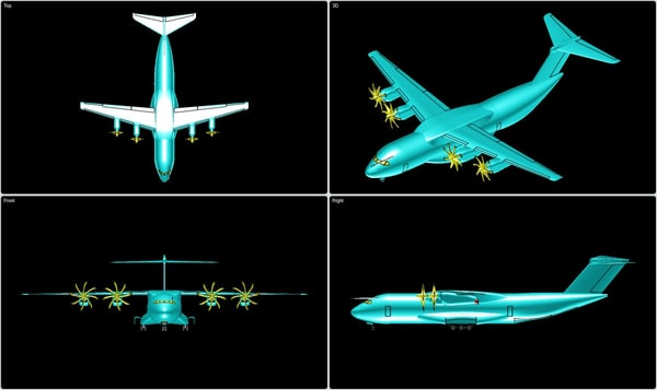 3ds max airbus a400m transport aircraft