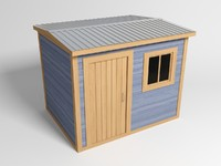 house wooden wood 3d 3ds