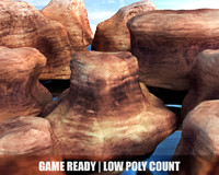 canyons cliffs mountains 3d obj
