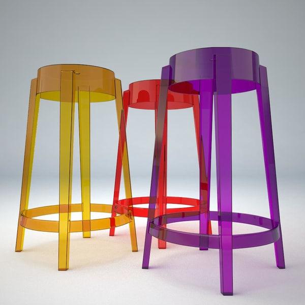 3d model bar stool charles ghost
