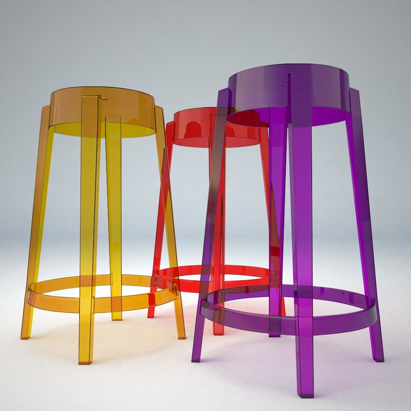 3d model bar stool charles ghost