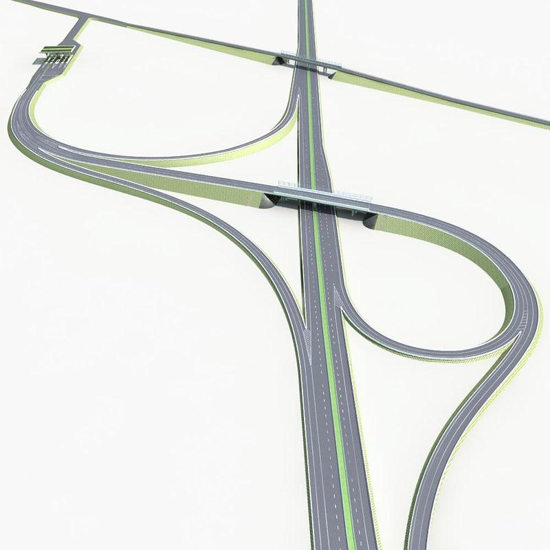 3d highway road way model