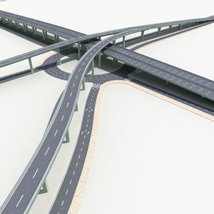 highway road way 3d model