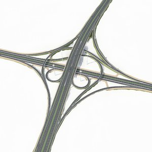 3d model highway road way