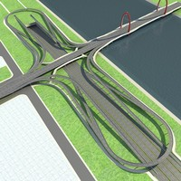 3ds max highway road way