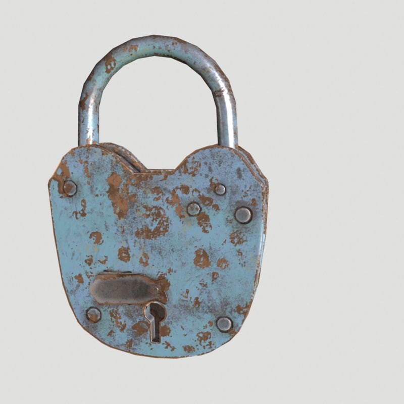 3d lock padlock