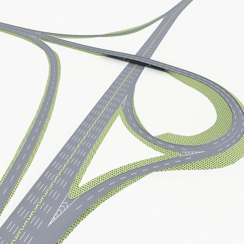 highway road way 3d model