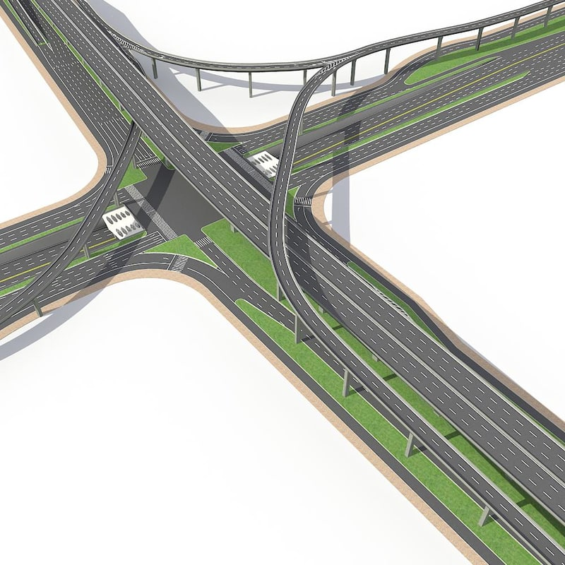 3d highway road way