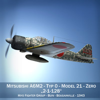 Mitsubishi A6M2 Zero - Hiyo Fighter Group