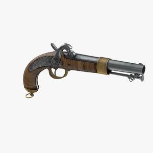 revolver modeled 3d max