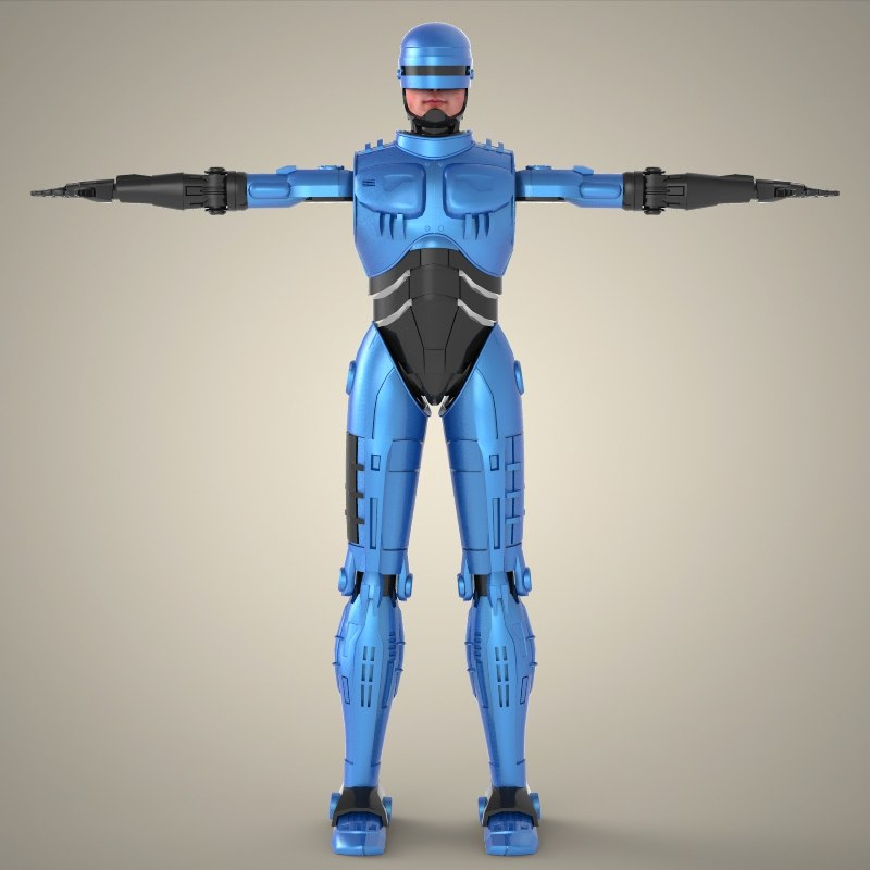 superhero robocop 3d model