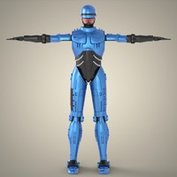 superhero robocop 3d model