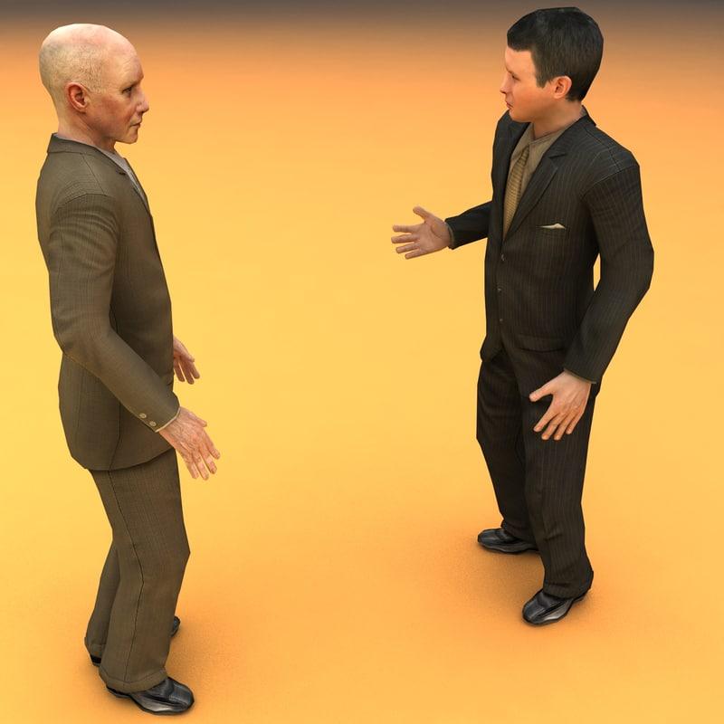 talking humans animation 3d model