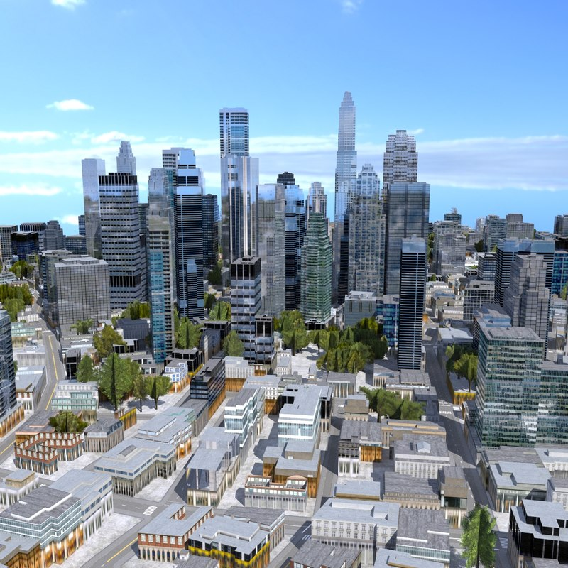 3ds max cityscape scene highrise
