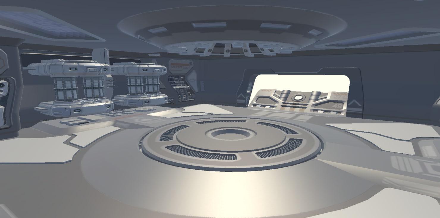 futuristic hangar sci-fi fbx