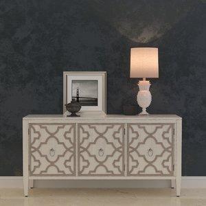3d model hooker furniture melange miranda