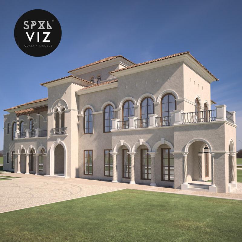 3d model of californian villa for Villas 3d model