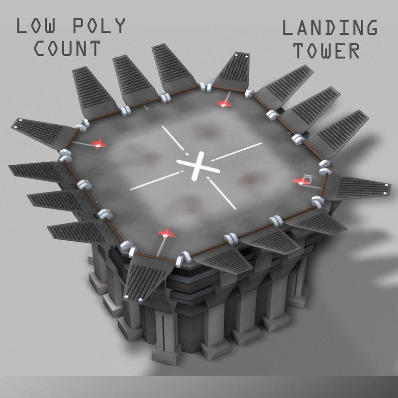 landing tower dxf