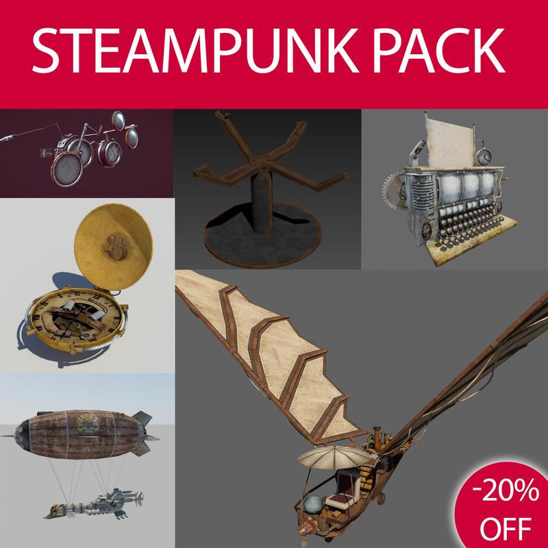 steampunk pack 3d max