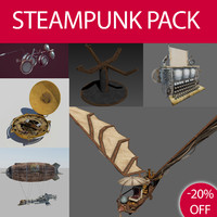 steampunk pack 3d max