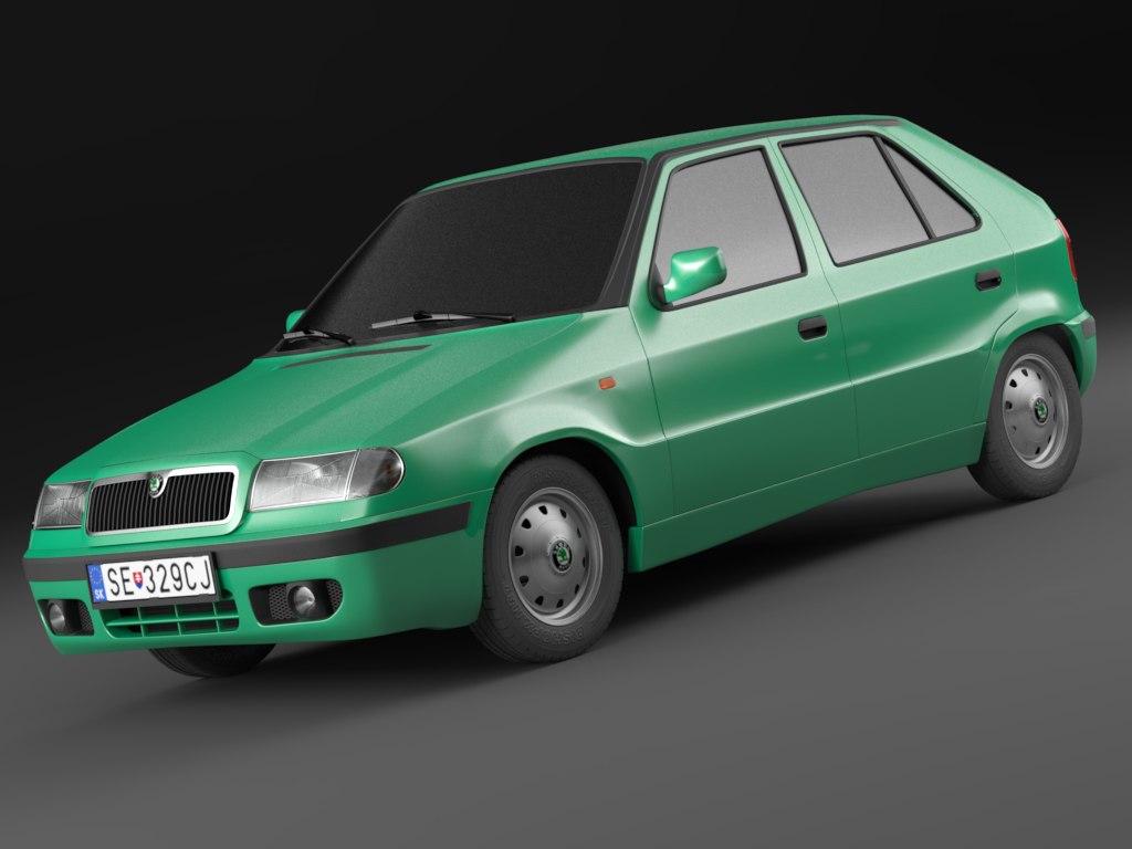 3d model skoda felicia facelift 98-01