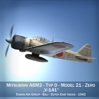 Mitsubishi A6M2 Zero - Tainan Air Group