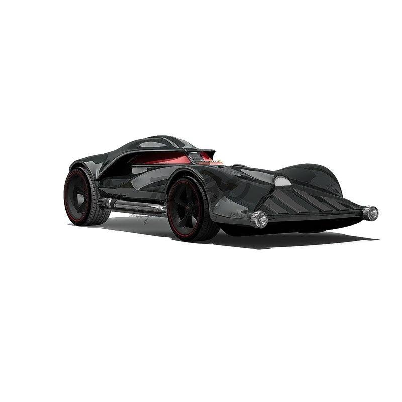 darthcar wheel 3d model