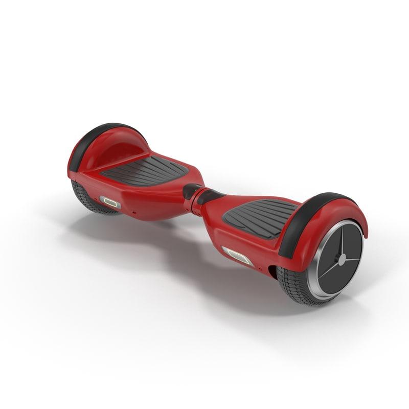 3d model of balance hoverboard