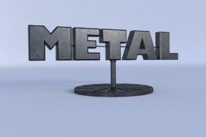 3d model interior scenes decoration metallic