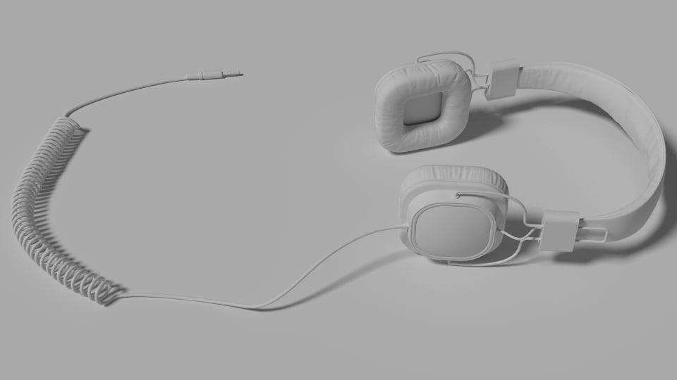 3d model of headphones