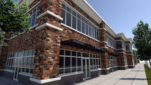 retail building strip 3d model