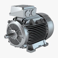 siemens electric motor 3d model