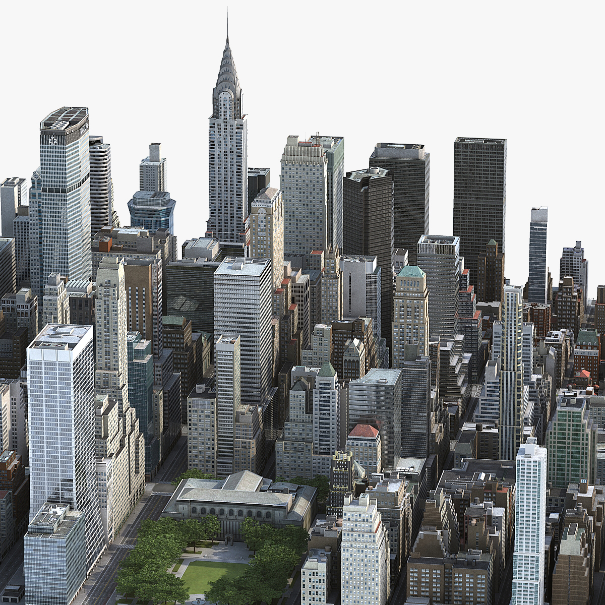 3d model manhattan district block01