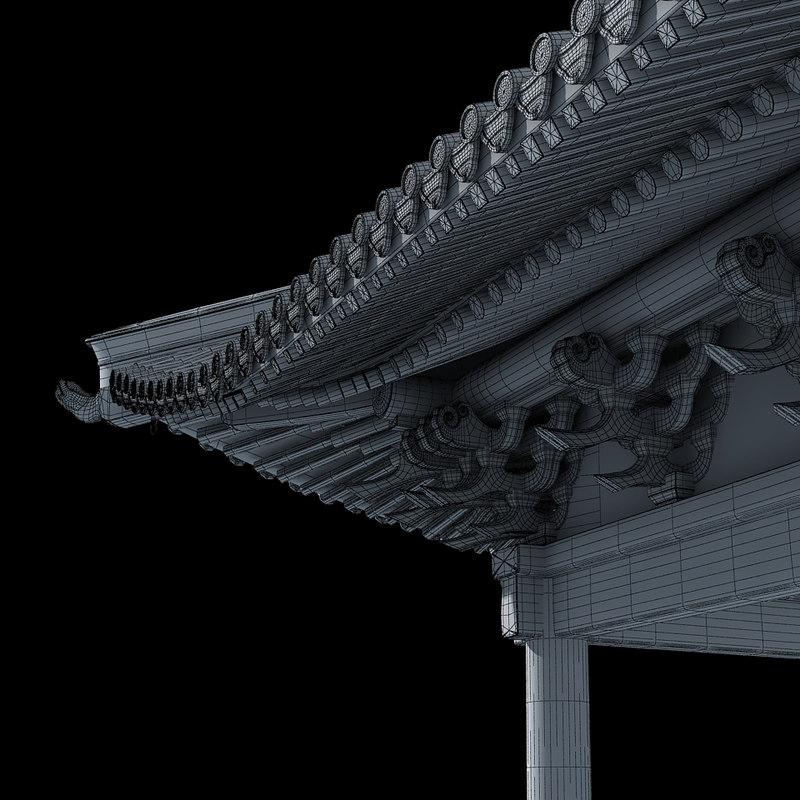 3d shaolin monastery model
