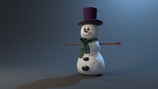3d model snowman rigged