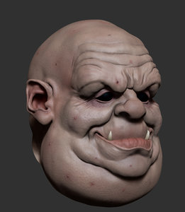 3d model troll ztl zbrush