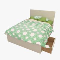 3d max bed underbed platform