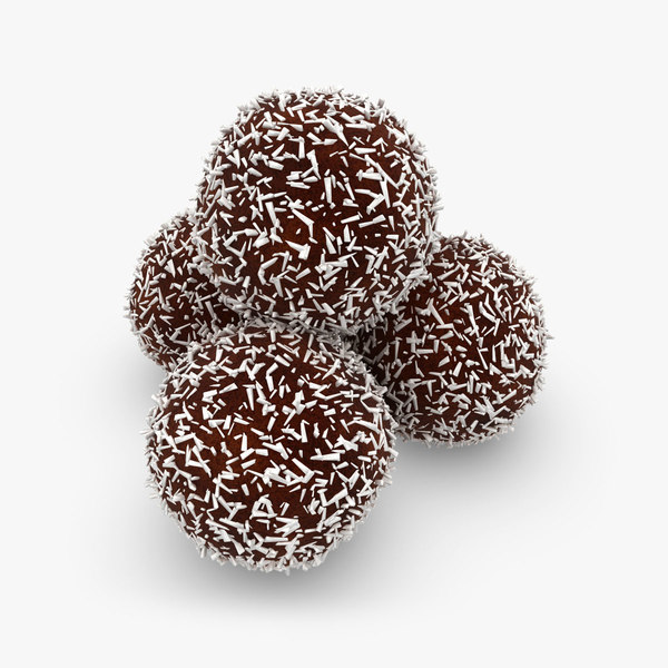 3d model chokladbolls 4 colors