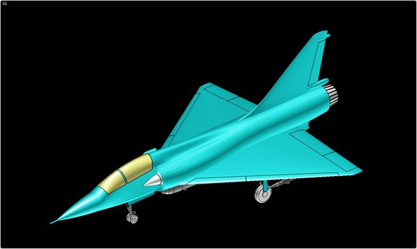 3d model mirage 2000 fighter aircraft