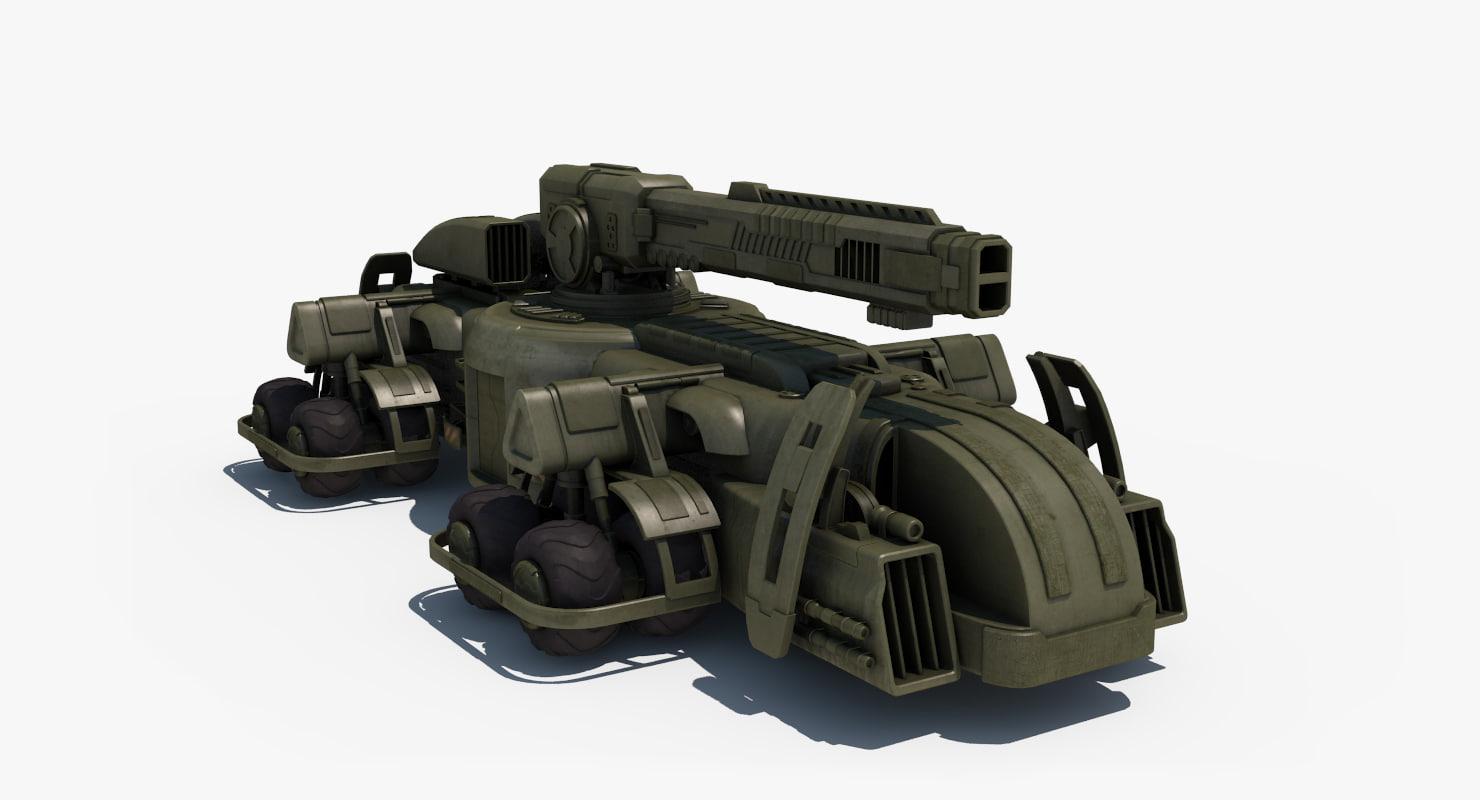 sci-fi gun-car 3ds