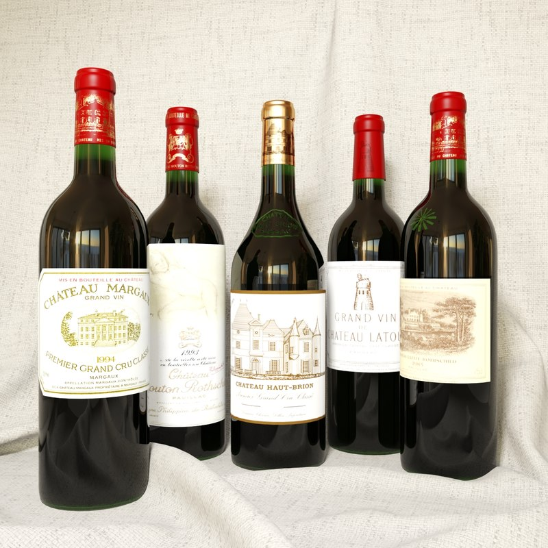 max 5 famous wines bordeaux