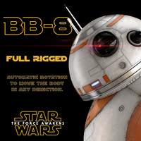 BB-8 Star Wars Droid Full Rigged