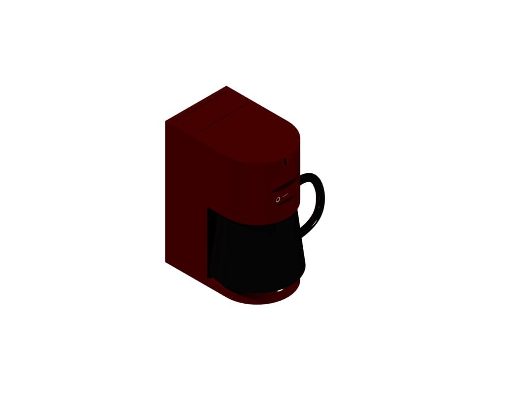 3ds max coffee maker