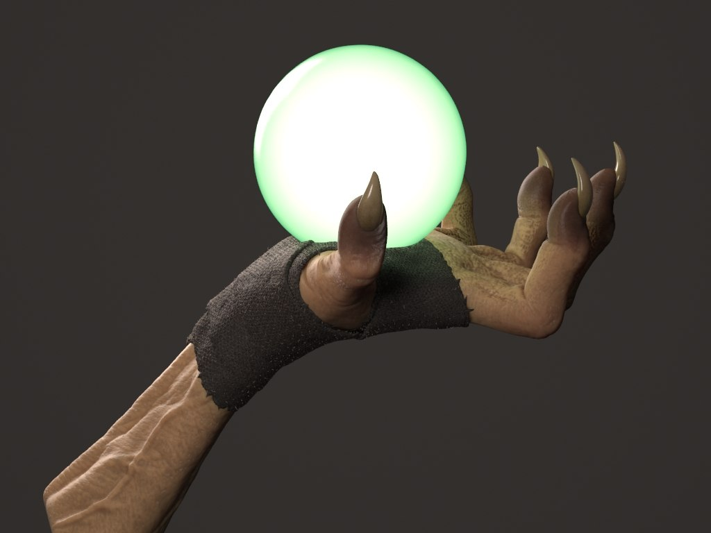 witch hand 3d model