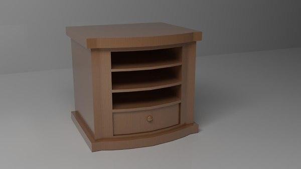3d wood drawer