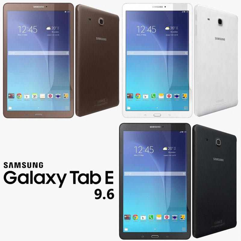 3d samsung galaxy tab e model
