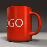 3d model cup logo